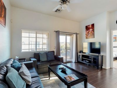 Photo for NEW LISTING! Modern updated condo w/shared pool & hot tub, near ASU, 1 dog OK