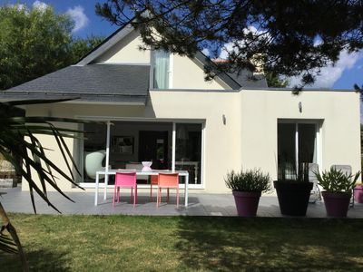 Photo for Modern house Beg-Meil the beach on foot, bicycles provided, Wifi