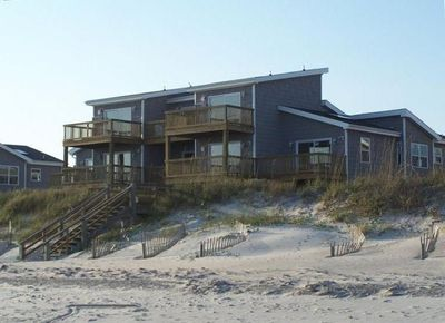 Enjoy your stay only steps away from the beach access off this oceanfront home!