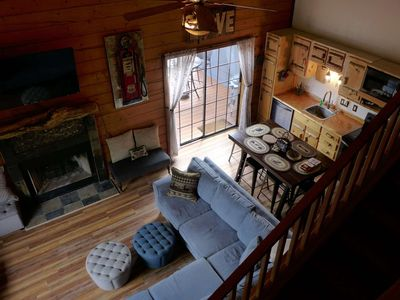 Photo for New Cabin. Great Cabin Furnishings! On secluded dead-end street. 4 miles to 76 HWY Activities.