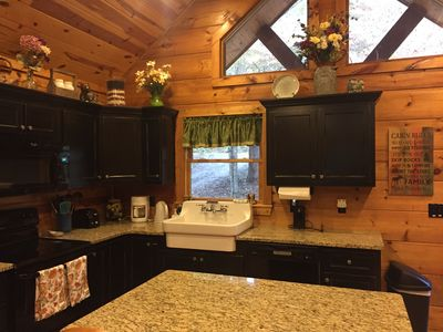 Enjoy the extra room with the kitchen island.