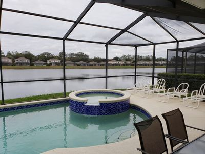 Photo for Lake View, 5 Bedrooms, Gated Community Pool Home close to Disney