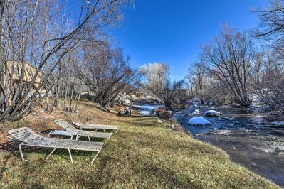 Enjoy a peaceful location on the edge of Cottonwood Creek!