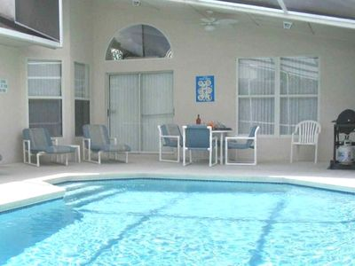 Large, Fully Screened Heated Pool Available: