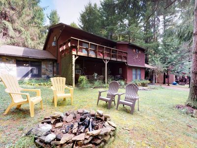 Photo for New Listing! Home w/private hot tub/firepit-community beach/dock/pond/playground