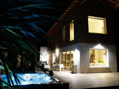 Photo for Beaches on foot! Architect's Villa, Jacuzzi, Location N ° 1 Vieux-Boucau
