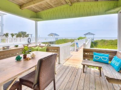 Photo for Updated Oceanfront 4BR w/ Boardwalk to Beach, Fenced Yard & Deck