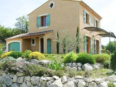 Photo for Provencal house in Goult with pool, overlooking the Luberon, sleeps 5 people