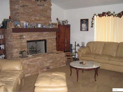 Living Room with Queen size sleeper sofa.  Great get away for one-on-one.