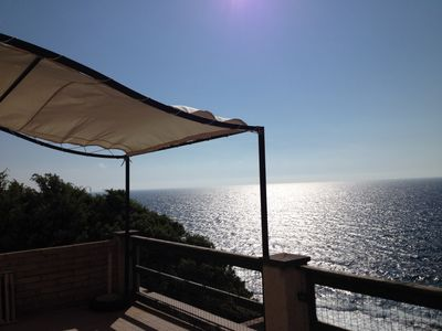 Photo for terrace apartment with stunning sea views and direct access to the sea