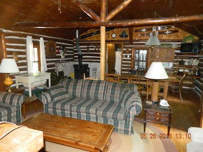 Photo for Log Cabin on Little Platte Lake