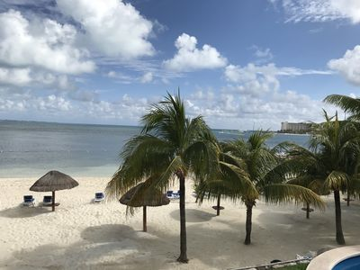 Photo for CANCUN Beachfront Apartment on the Hotel Zone excellent location