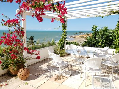 Photo for Triplex House, Sea View, 6 air-conditioned suites and hot bath. Service included