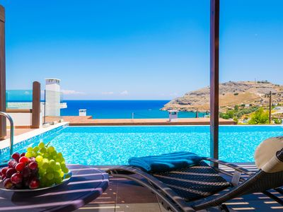 Photo for Sea View Villa, Short Walk To The Beach,  Restaurants, Bars And 3km From Lindos!