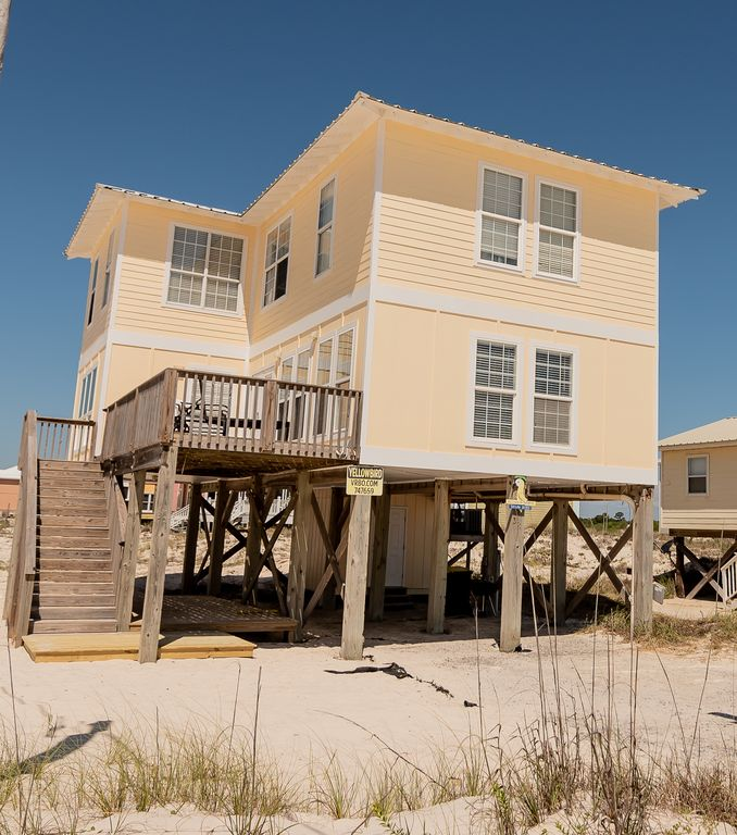 Gulf Shores Beach House Rentals By Owner: Yellow Bird **Steps To Beach Front W/o The Beach Front