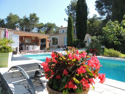 Photo for Bed and Breakfast - upstairs / for 2 people South Luberon - Pool -