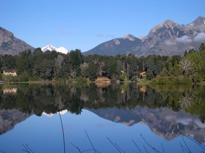 Photo for Cabin with coastline on Lake Morenito. PEACE, TRANQUILITY AND FAMILY