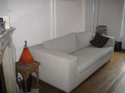 Sofa bed in the living room (for 2 people)