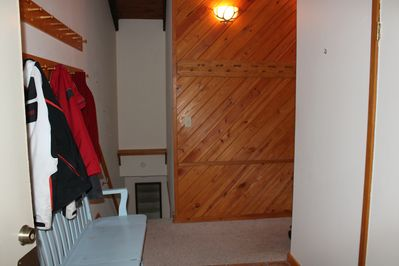 Entry way; room to hang coats, helmets, skis and poles