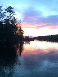 Picture this sunset view from the dock all summer long!