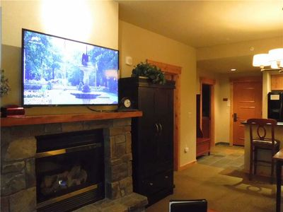 Living Room Fireplace and TV