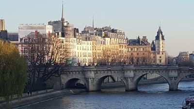 Photo for Extra Large apartment , high standing with a view on Seine and bridge in PARIS, 2 separated bedrooms, 6-7 guests