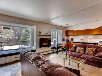 Photo for Garden-level Condo with Patio on creek, walk to Golden Peak, Vail Village | Vail Trails East 1B