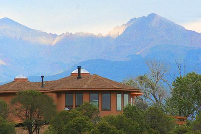 Enchanted Retreat sits on a hill, right next to Summit Lake, awesome views!