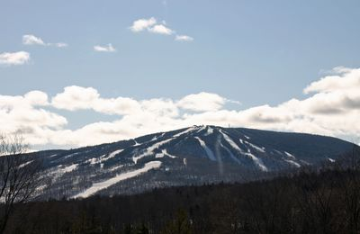 View of the main and north faces of Mt. Snow from the Living Room.
