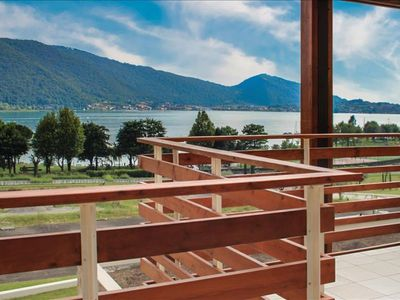 Photo for Bahamas apartment in Lago d'Iseo with WiFi, private parking & private roof terrace.