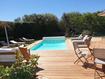 Photo for Villa close to the beaches without any opposite, heated swimming pool.