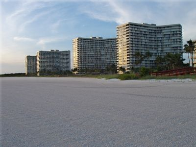 View of South Seas Condo Association from Beach