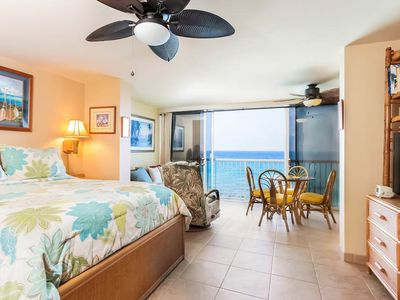 Photo for Oceanfront Studio with Window A/C, Lanai, Shared Pool Area
