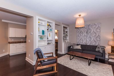 Well-appointed home with hardwood floors throughout.