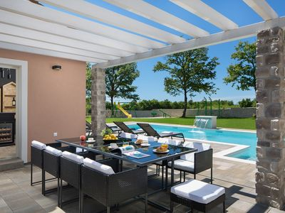 Photo for Great property with private pool, children's playground, a barbecue, a sauna and a wine bar - enjoy the break