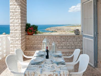 Photo for VILLA ON THE SEA TOWER COLIMENA, SALENTO, TIP HAM