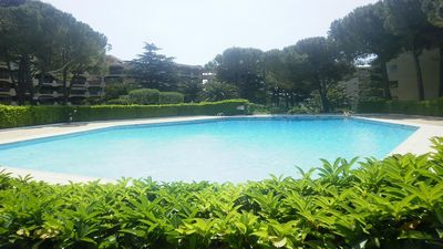 Photo for CHARMING STUDIO SECURE RESIDENCE WITH 3 SWIMMING POOLS - LARGE TERRACE + PARKING