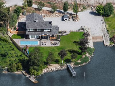 Photo for Lake Entiat Waterfront Estate - Pool, Hot Tub, Boat Launch, Dock (sleeps 16)