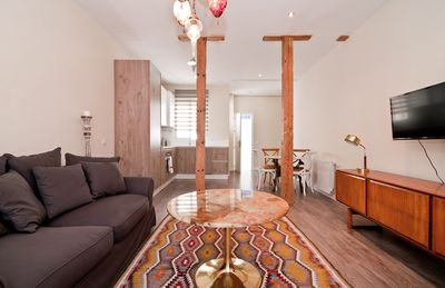 Photo for lux apart 1 bedroom and large open space living room/ kitchen too WIFI AIRCON