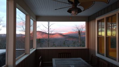 Morning from the Screened Room, looking West