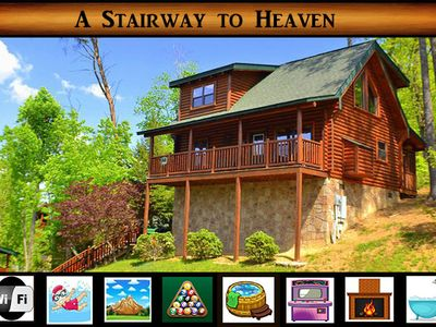 Photo for Stairway to Heaven} 5 minutes to Pigeon Forge\ Game Room\ Pool Access\ WiFi