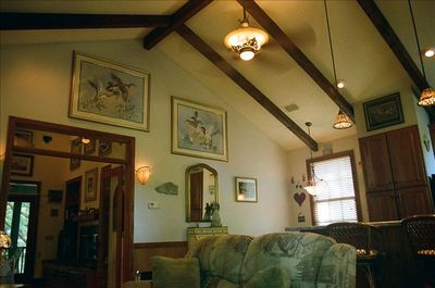 Beautiful beamed vaulted ceilings