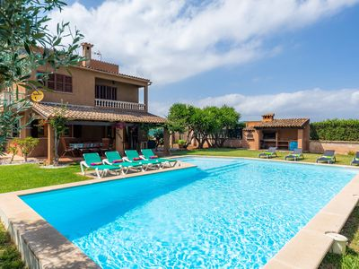 Photo for Holiday Home Son Moro Vell with Pool, Garden, Terrace & Wi-Fi; Parking Available, Pets Allowed