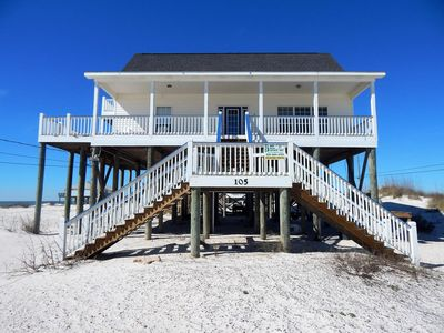 Photo for Beautiful Gulf View House the Island, family friendly and steps from the Gulf.