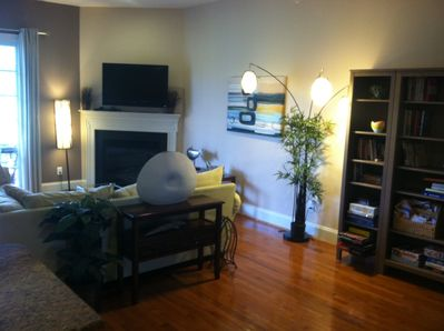 Family room with 42' flat screen tv, fireplace, dvd player, xbox, etc.