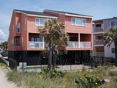 Photo for Tropical Fun, Oceanfront Luxury Home in Cherry Grove with Private Outdoor Swimming Pool and Beautiful Ocean Front Views