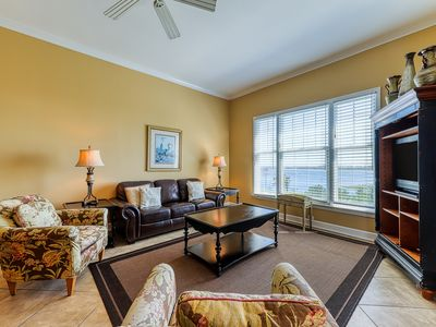 Photo for Bay-facing condo w/ majestic view & shared lagoon-style pool/hot tub!