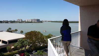 View of Estero Bay from Lanai. See the gulf and drawbridge from this unit too!
