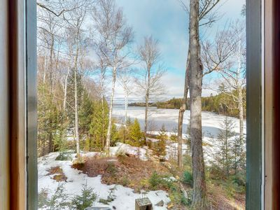 Photo for Classic lakefront cottage w/ boat slip, shared beach/firepit & amazing view!