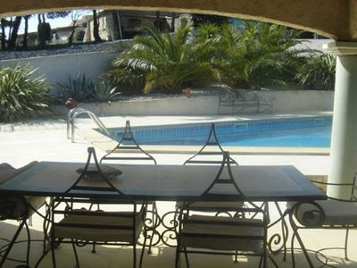 Photo for Private pool villa 8 people character, gd garden 5 minutes from the port